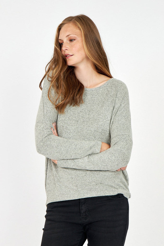 Speckled Sweater Top