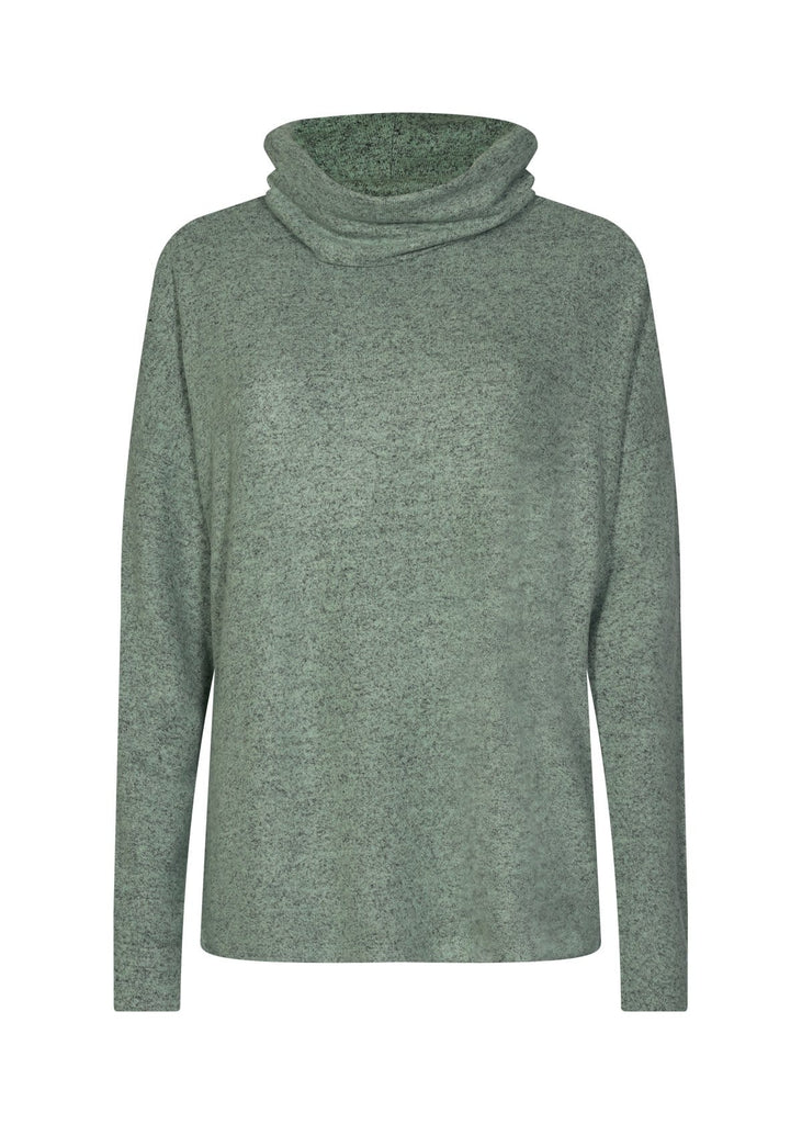 Soft Cowl Neck Fleece Top