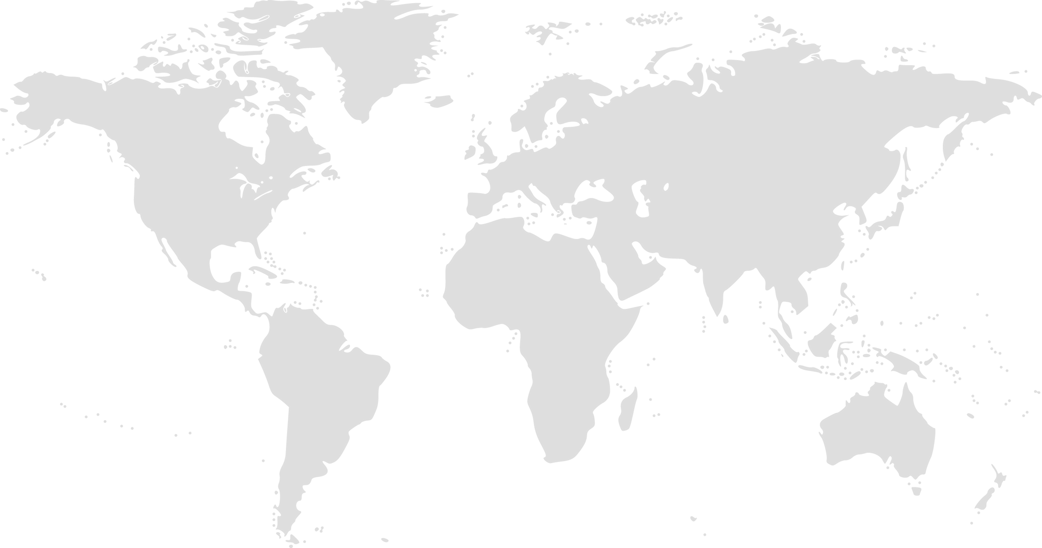 map of the world JCB Vicary Plant Distributors Map