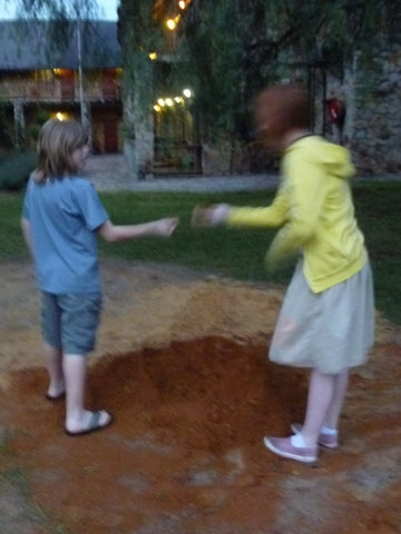 Connor and Amanda and the red, red dirt of South Africa