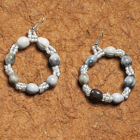 Balele Loop Earrings in White