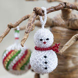 Fun snowman Christmas tree ornament from Beaded Hope
