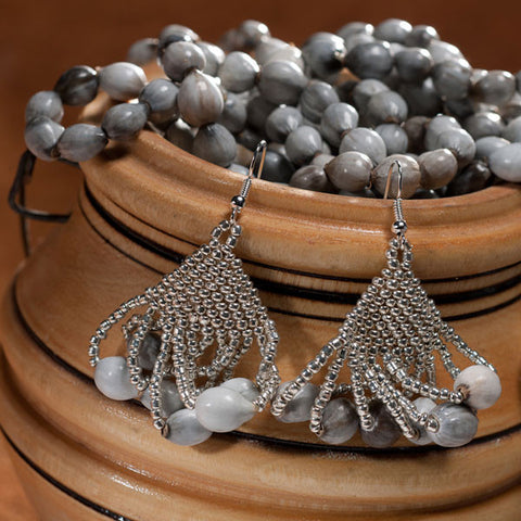 Tassel Earrings in Silver