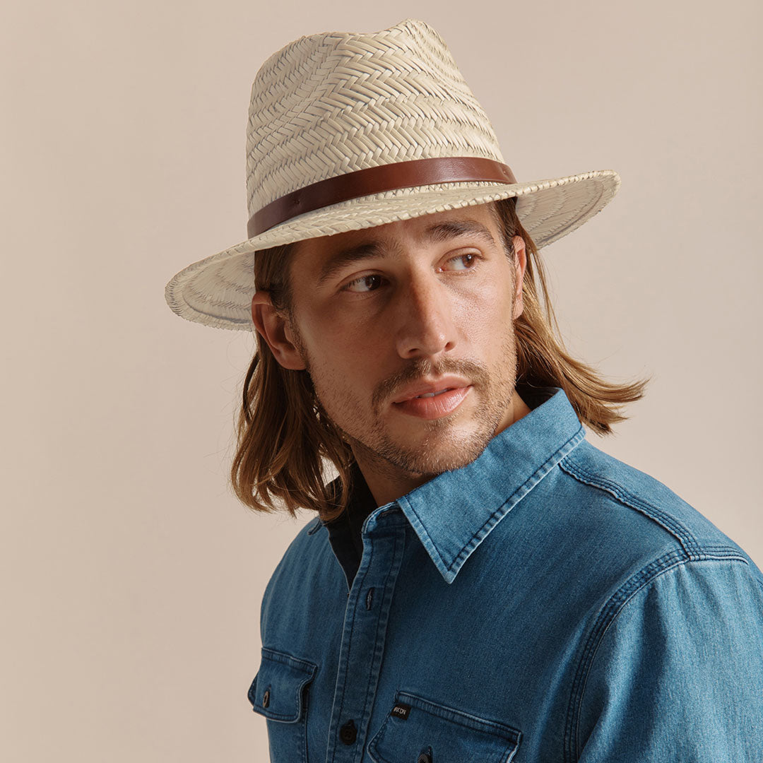The Messer Straw Fedora in Tan