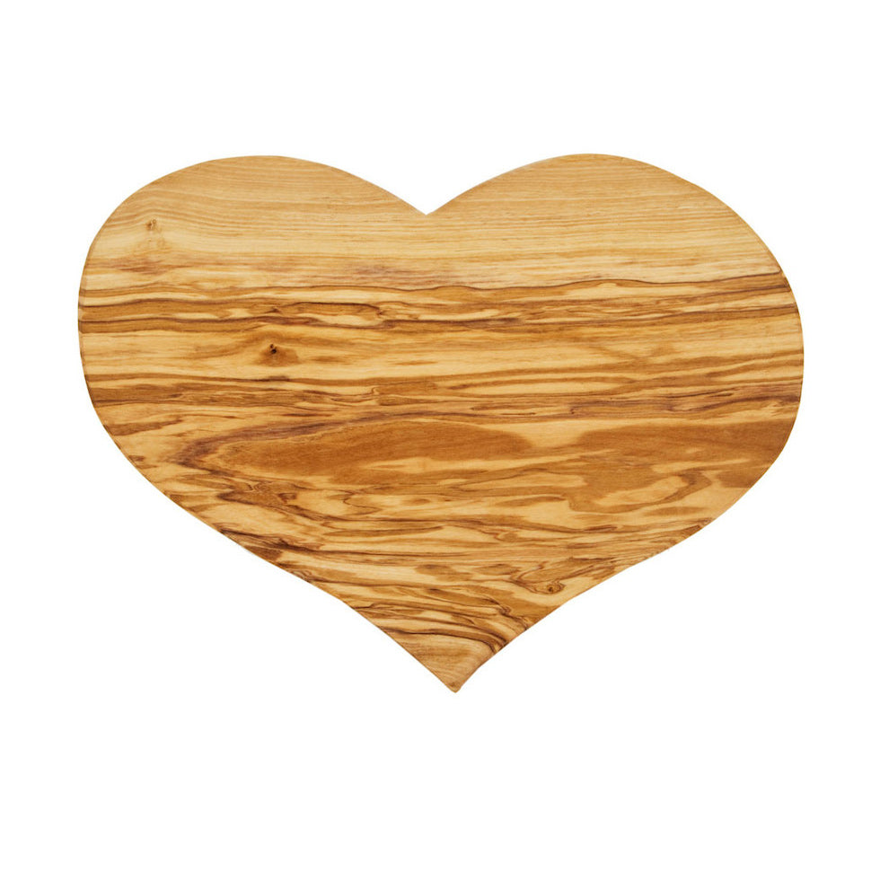 Olive Wood Heart Board Gift Box