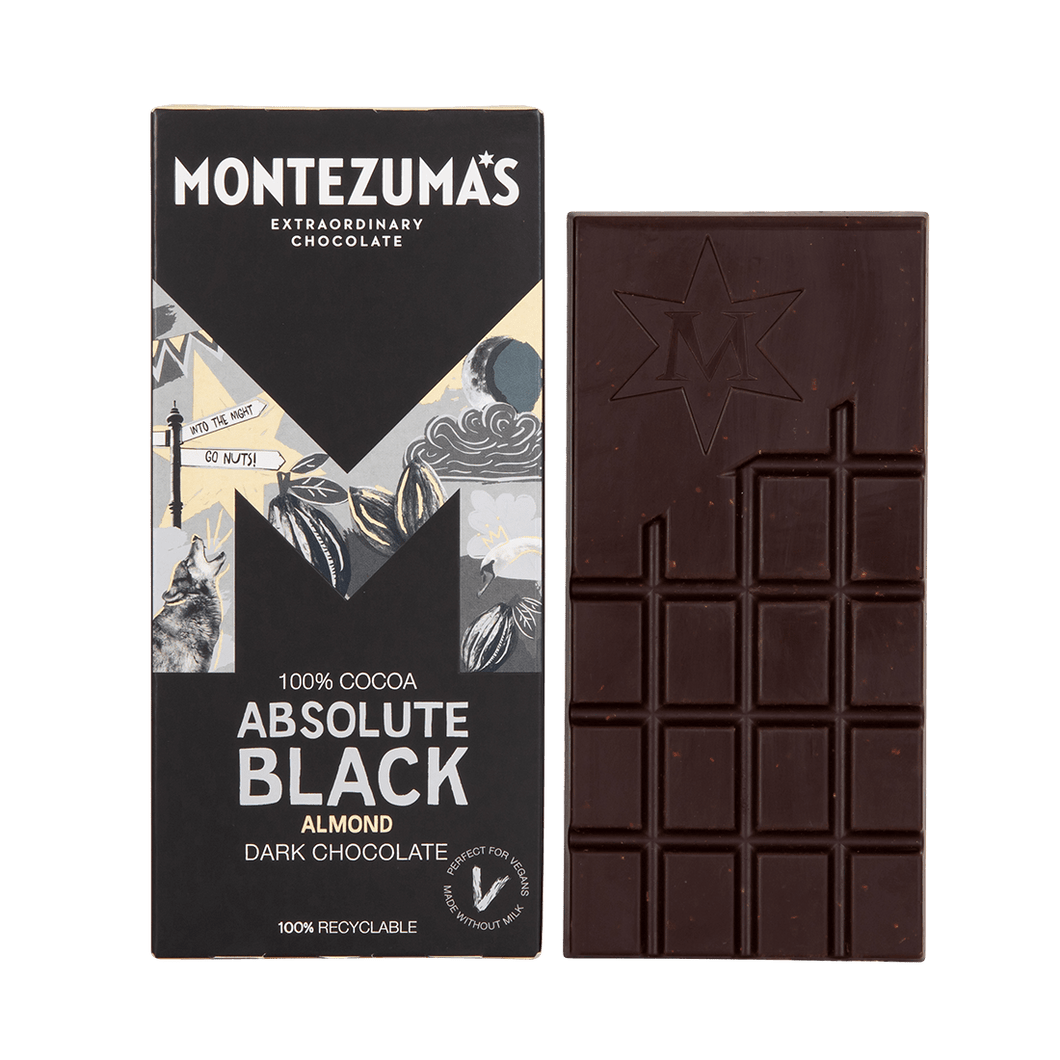 Absolute Black with Almonds Chocolate – 90g