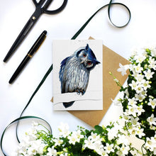 Load image into Gallery viewer, Northern White Faced Owl Cards - On White