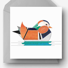 Load image into Gallery viewer, Mandarin Duck Greetings Card