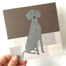 Load image into Gallery viewer, Weimaraner Greetings Card
