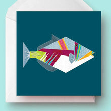 Load image into Gallery viewer, Triggerfish Greetings Card