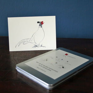 Pheasant Set of 6 cards in a tin