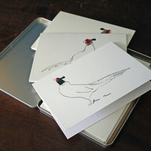 Load image into Gallery viewer, Pheasant Set of 6 cards in a tin