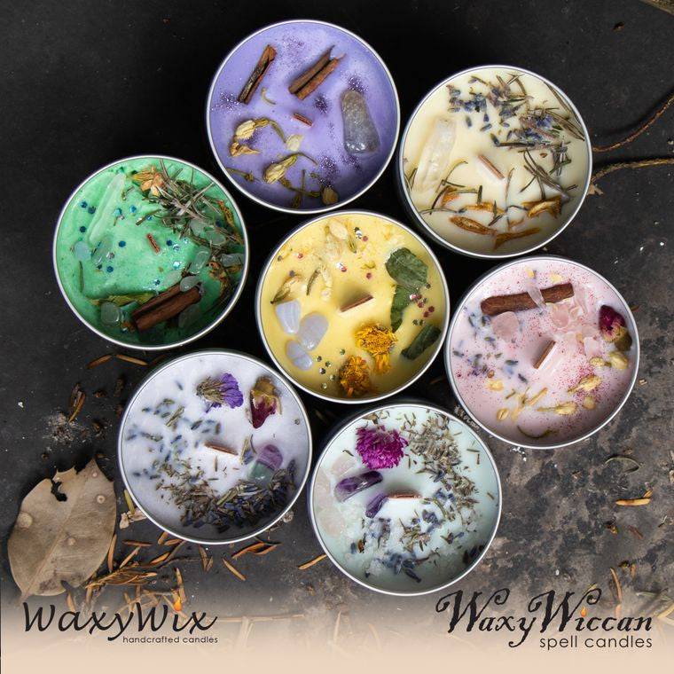 Bundle - WaxyWiccan Spell candle - full set of 7 x 225 ml