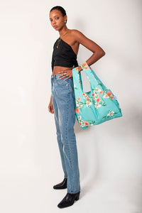 Floral | Reusable Bags 100% Recycled from Plastic Bottles | Medium | KIND BAG