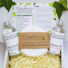 Load image into Gallery viewer, Zero Waste Facial Cleansing Kit. Vegan Skincare Pamper Box, Eco Friendly, Cruelty Free