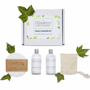 Zero Waste Facial Cleansing Kit. Vegan Skincare Pamper Box, Eco Friendly, Cruelty Free