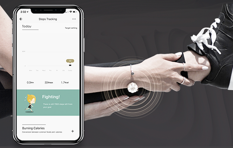 totwoo smart jewelry steps tracking