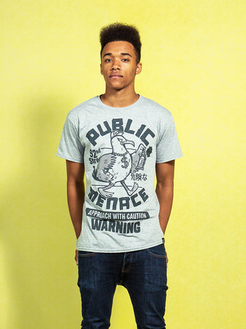 Public Menace Grey Seagull Tee