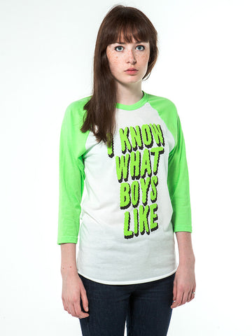I Know What Boys Like Women's Raglan