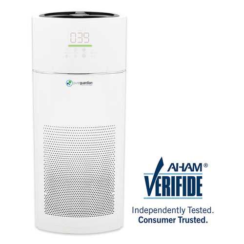 AC9400W Hi-Performance Tower Console Air Purifier with HEPA Filter, Odor Control & Air Quality Sensor, Large Room