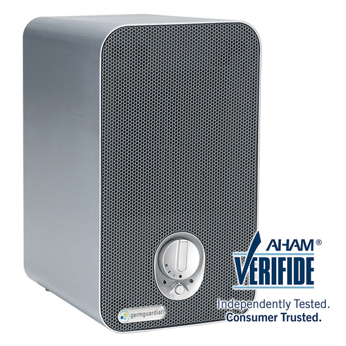 "GermGuardian AC4100 4-in-1, 11"" Desktop Air Purifier with HEPA Filter, UVC Sanitizer, and Odor Reduction"