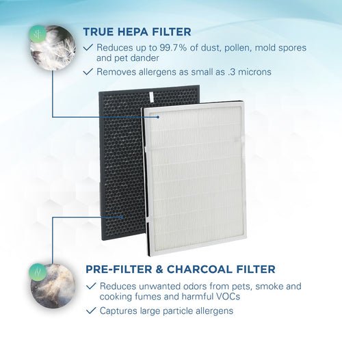 GermGuardian FLT9200 HEPA GENUINE Replacement Filter H HEPA and Carbon Combo Pack