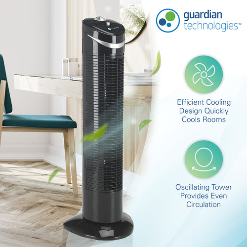 PureGuardian TF2113B 3-Speed Oscillating Tower Fan