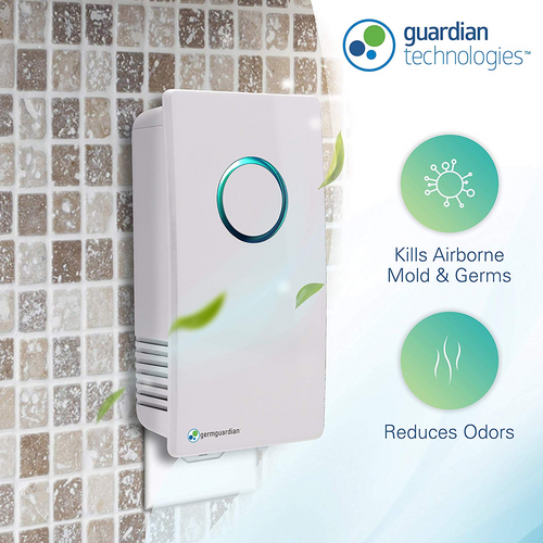 GG1100 Elite Pluggable UV Air Sanitizer, Odor Reduction by GermGuardian