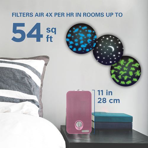 GermGuardian AC4150 4-in-1, Air Purifier with HEPA Filter, UVC Sanitizer and Night Light Projector For Kids Room