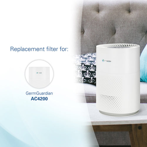 GermGuardian FLT4200 HEPA GENUINE Replacement Filter L for AC4200 Air Purifier