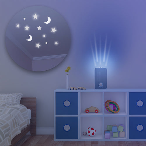 GermGuardian Night-Projecting Blue AC4150 on Child Bedroom Table