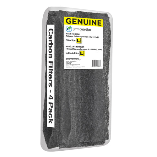 GermGuardian FLT42CB4 GENUINE Carbon Filter Replacements for 13.5-inch Air Purifiers, 4-Pack