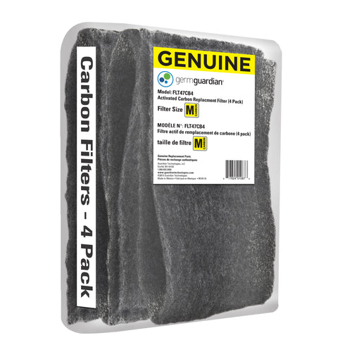 GermGuardian FLT47CB4 GENUINE Carbon Filter Replacements for 15-inch Air Purifiers, 4-Pack