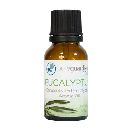SPAEUC15 Concentrated Eucalyptus Aroma Oil, 15 ml, by PureGuardian Spa