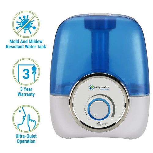 H1210 1.5-Gallon Ultrasonic Cool Mist Humidifier by PureGuardian