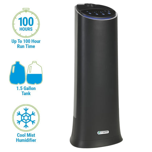 H3200 Ultrasonic Cool Mist Humidifier Tower with Aromatherapy Tray, 1.5-Gallons
