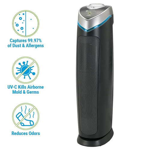 GermGuardian RAC5000 Refurbished 3-in-1 Air Purifier System with HEPA Filter, UV Sanitizer and Odor Reduction, 28-Inch Tower