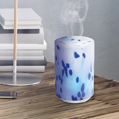 SPA325CA Ultrasonic Cool Mist Glass Aromatherapy Essential Oil Diffuser, by PureGuardian