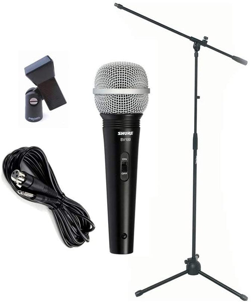 Shure SV100 With Boom Mic Stand and 6m Cable