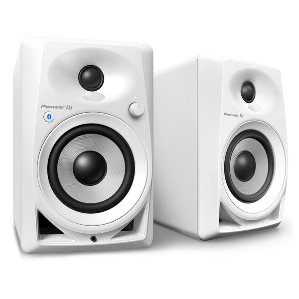 Pioneer DJ DM-40BT Desktop Monitor Speakers With Bluetooth, White B-Stock