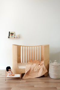 Fitted Cot Sheet in Sand
