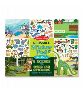 Block Stickers Animales Reusable