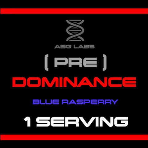 (PRE) DOMINANCE Sample (1 serving) (Blue Raspberry)