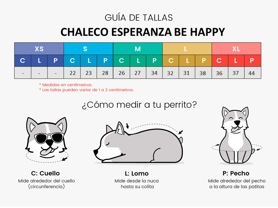 CHALECO ESPERANZA BE HAPPY