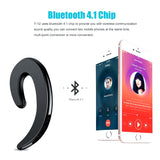 Bluetooth 4.1 Stereo Headset Wireless, Bone Conduction and Waterproof Sports Earphones with Mic
