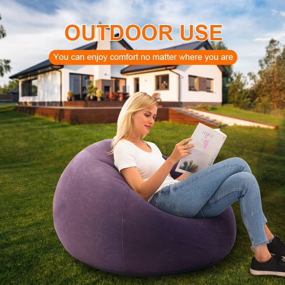 Inflatable Lazy Sofa/Inflatable Folding Recliner Outdoor Camping Sofa Bed and Sofa Chair