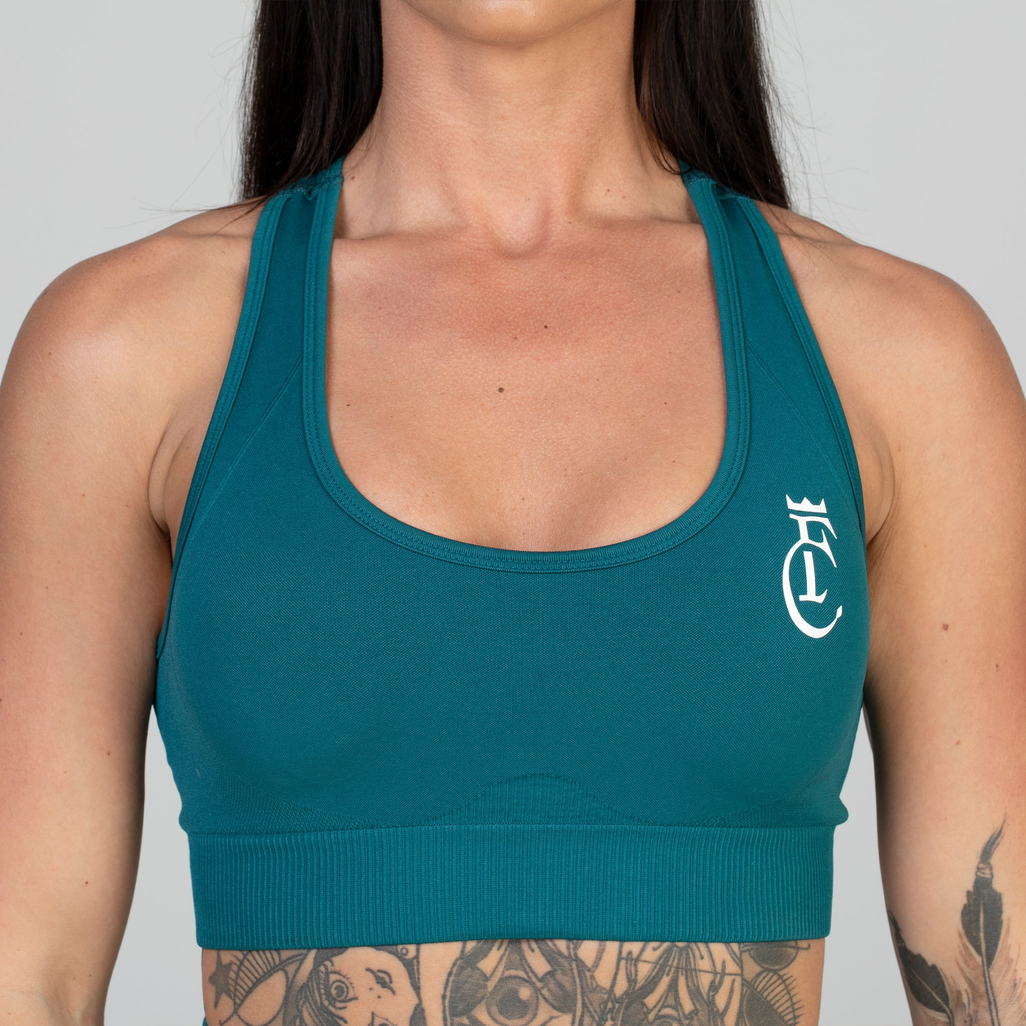 Emerald Green Seamless Sports Bra