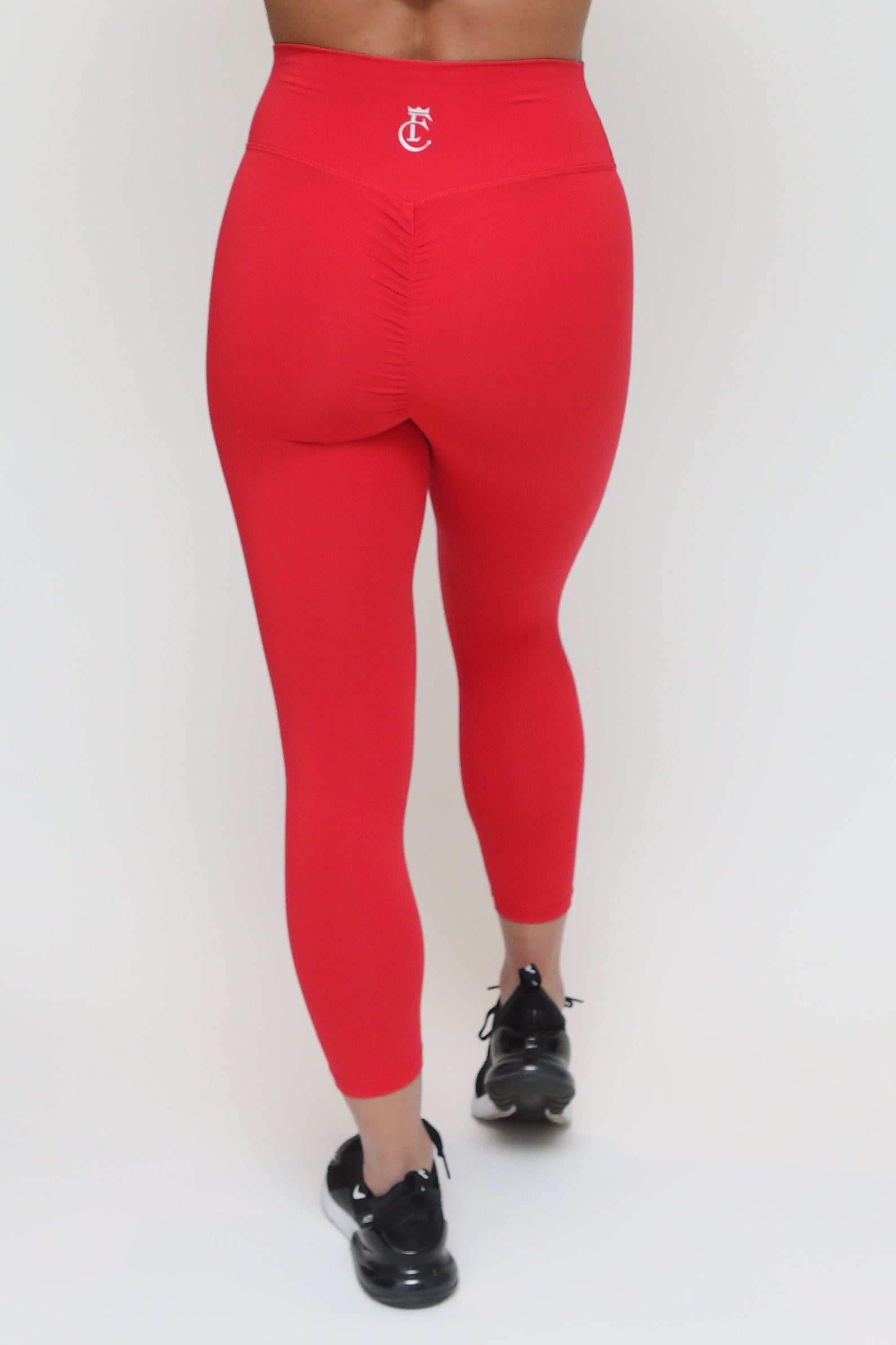7/8 Scrunch Tights - Red