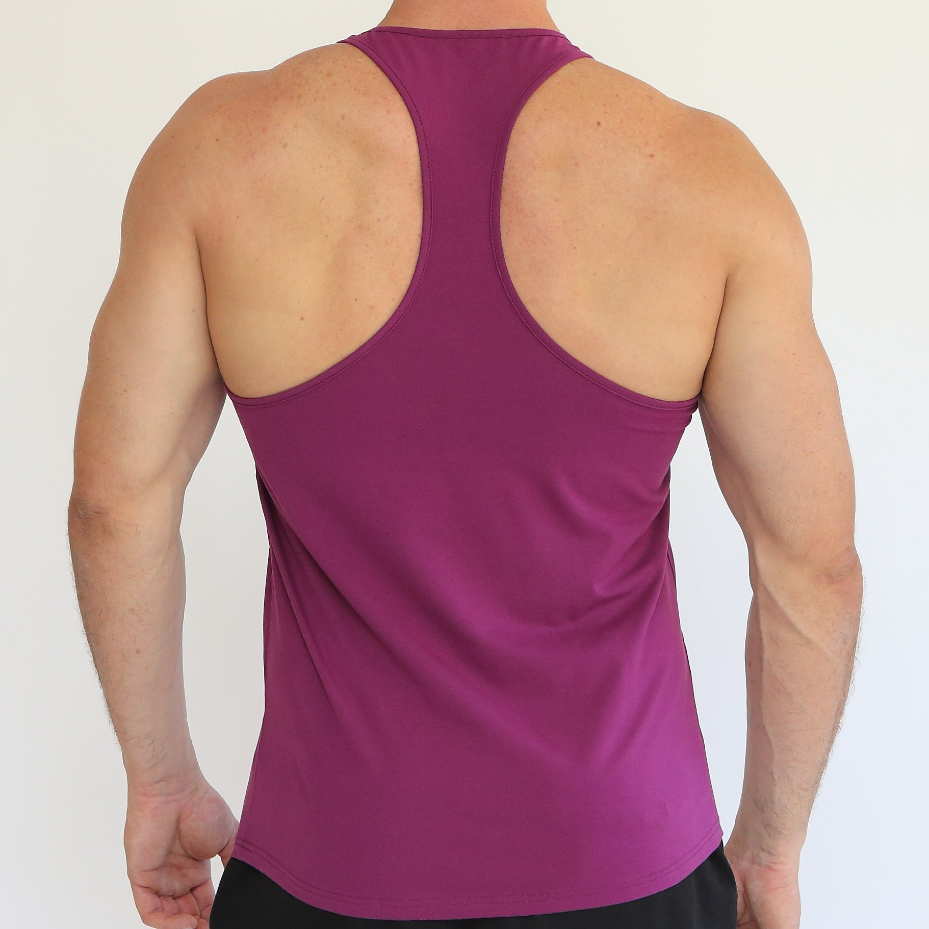 Purple Y back singlet