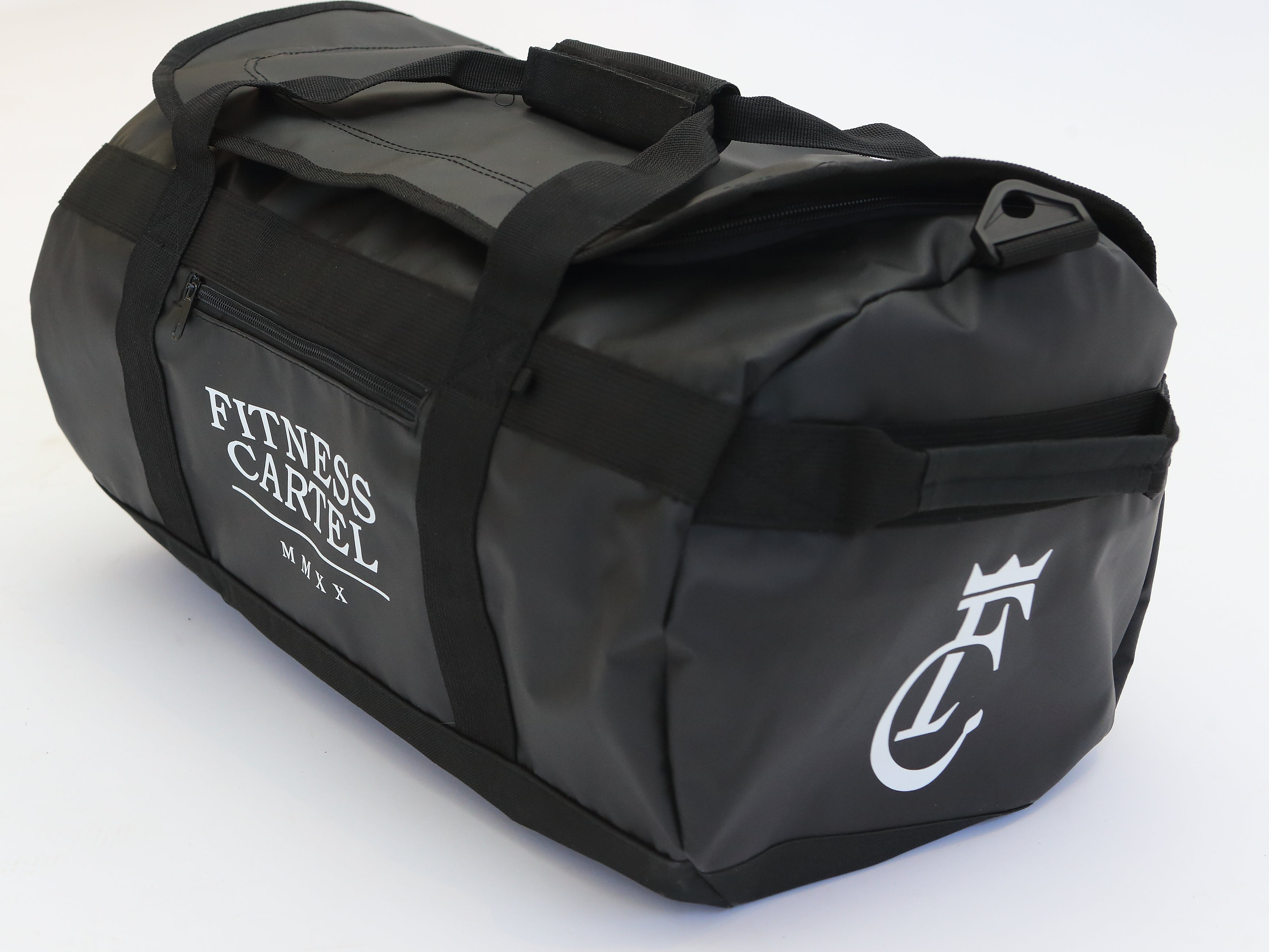 Fitness Cartel Gym Bags - White on Black